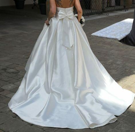 Piękna Satynowa Suknia Ślubna Anna Sorano Delancey