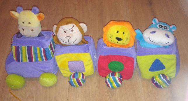 Pociąg pluszowy z zabawkami