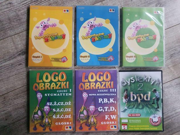 Płyta logopedyczne zabawy,logo obrazki dyslektyk