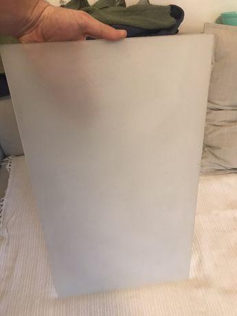 Szyba obustronnie piaskowana mleczna 53,8 x 31 x 0,4 cm (nie naklejka)