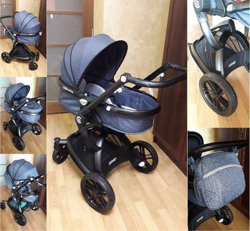 Коляска трансформер Coto Baby Sydney, колір Джинс, нова