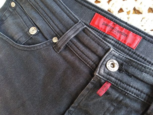 ciemno szare jeansy - PIERRE CARDIN - /a3.
