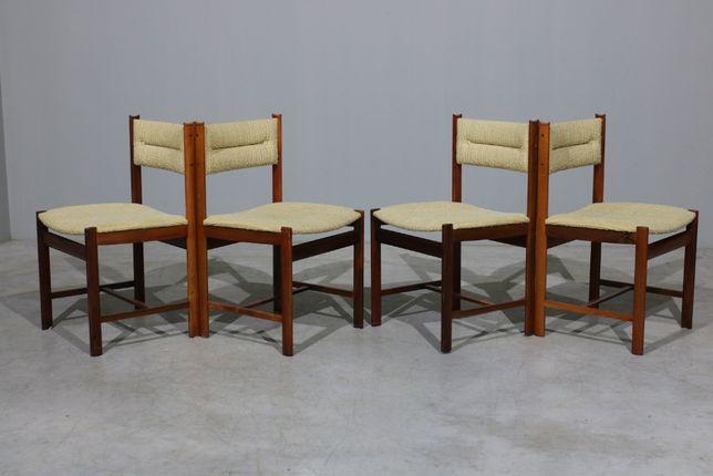 Cadeiras para sala de jantar da déc.60 em pau santo | Retro vintage