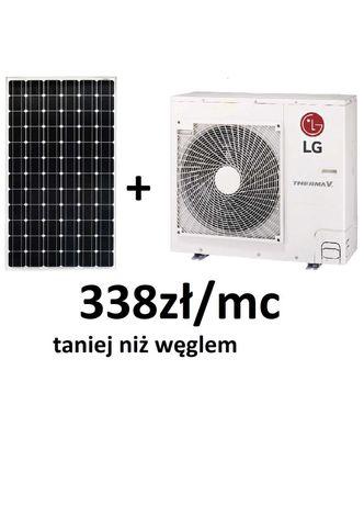Fotowoltaika PV 6kWp + pompa ciepła LG7kW 337,71zł/mc taniej od węgiel