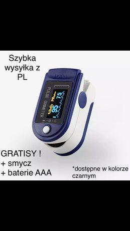 Pulsoksymetr napalcowy, PL, baterie GRATIS