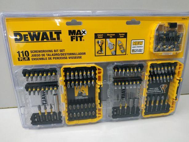 Dewalt MaxFit набор ударных бит 110 шт milwaukee bosch makita irwin