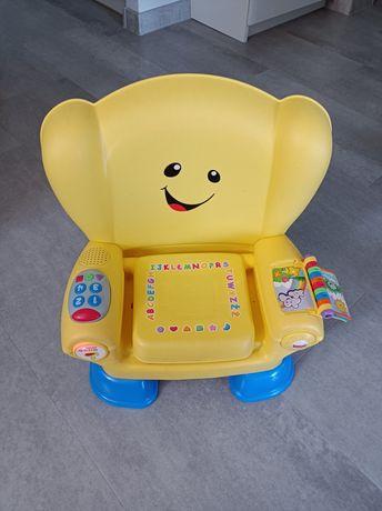 Edukacyjny fotelik krzesełko Fisher Price krzesełko uczydelko j. polsk