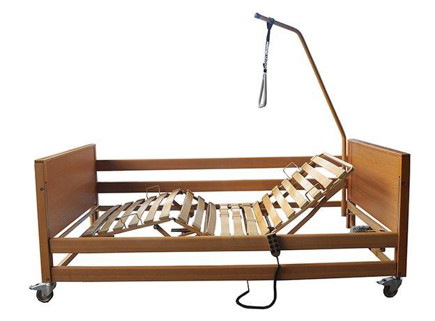 Łóżko rehabilitacyjne ortopedyczne elektryczne + WYSIĘGNIK + MATERAC