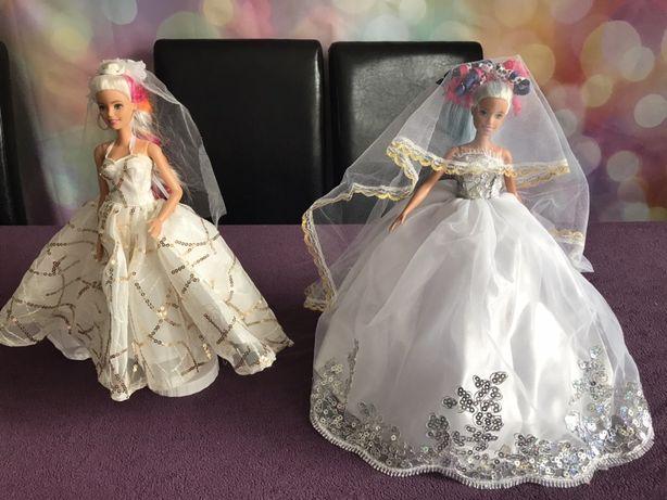 Suknie slubne sukienki dla lalki barbie