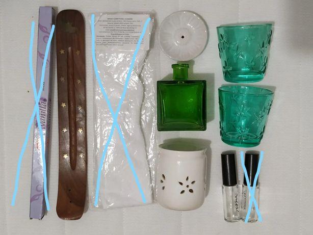 Akcesoria SPA - podstawki na kadzidła, buteleczka, wazonik, świecznik