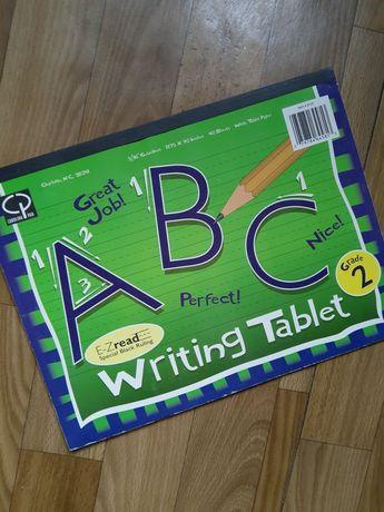 Тетрадь для прописания английского, ABC writing tablet