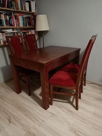 Stół drewniany z 6 krzesłami + stolik kawowy