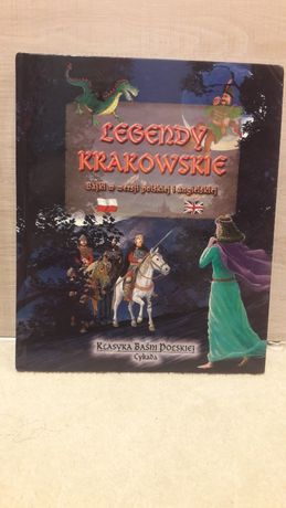 Książka - Legendy Krakowskie, bajki w wersji polskiej i angielskiej