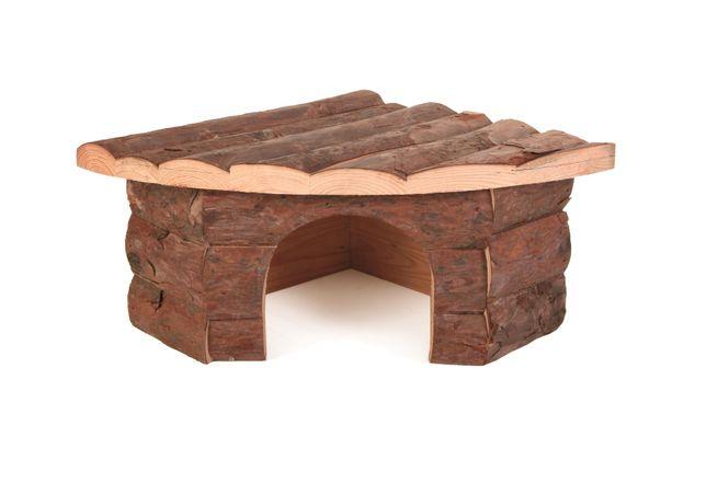 Trixie - domek drewniany narożny Jesper dla świnki morskiej, 32x13x21