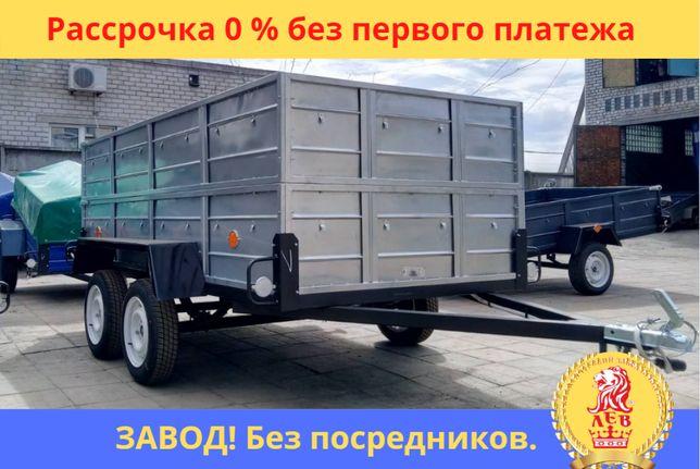 Мощный ДВУХОСНЫЙ ПРИЦЕП ЛЕГКОВОЙ с завода. Рассрочка 0%