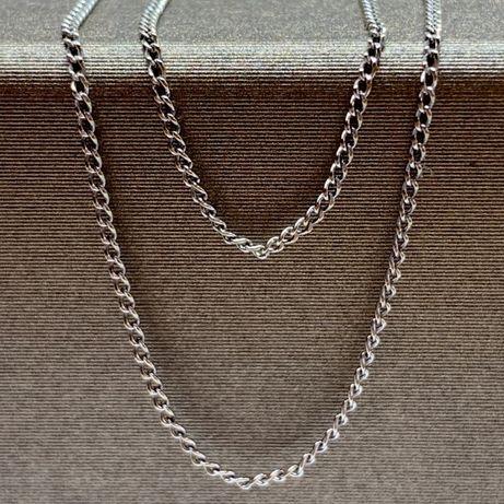 """Złoty łańcuszek """"pancerka""""/białe złoto p333 dł. 47 cm"""