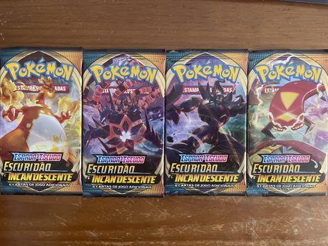 Pokemon boosters de varias edicoes