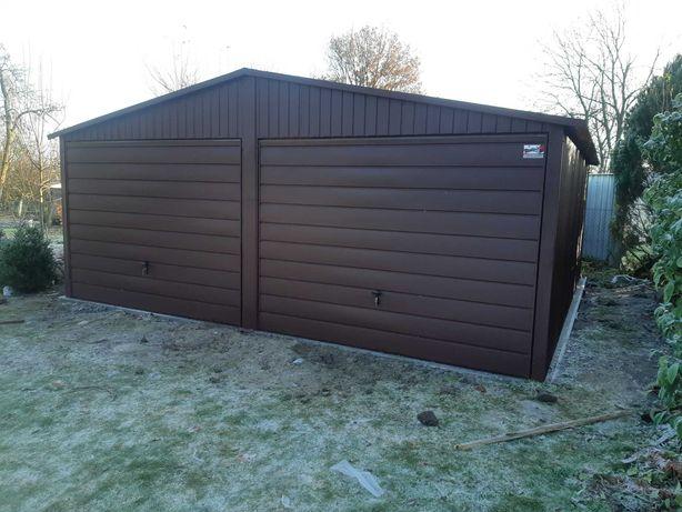 Garaż 6x5  blaszak w kolorze Wzmocniona konstrukcja