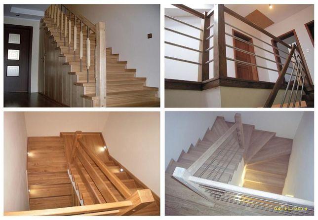 Schody drewniane Tanio i Solidnie na beton i nie tylko