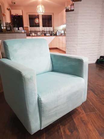 Fotel  obrotowy   mięta