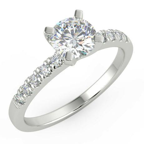 Pierścionek Złoty Diament Brylant 0,62 ct G/Vs1 Najtaniej!
