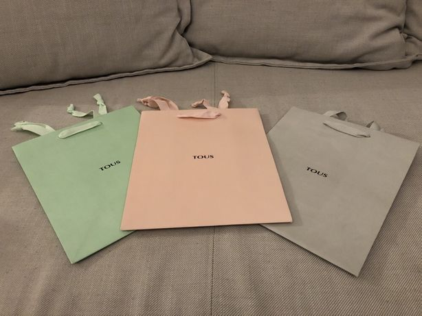 Tous torebki ozdobne papierowe na prezent średnie nowe opakowanie
