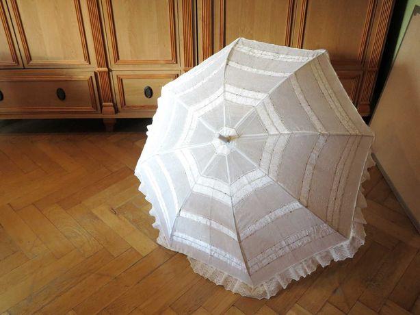 Parasol koronka, ślub, do sesji, 82cm