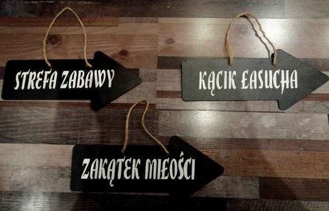 Drogowskaz weselny - 3 sztuki