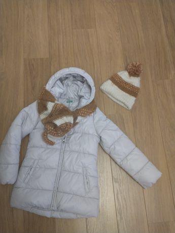 Benetton płaszczyk kurtka beżowy +komplet Zara 130