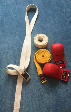 Pas biały i żółty do taekwondo, karate