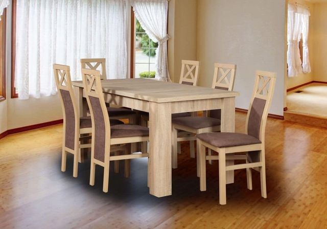 Piękny Stół + 6 Krzeseł W Bogatej Kolorystyce! NISKIE CENY! Sprawdź