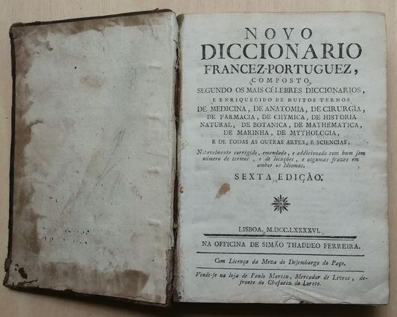 novo diccionário francez-portuguez, 1796, simão thaddeo ferreira