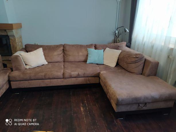 Narożnik i sofa 3 osobowa - komplet