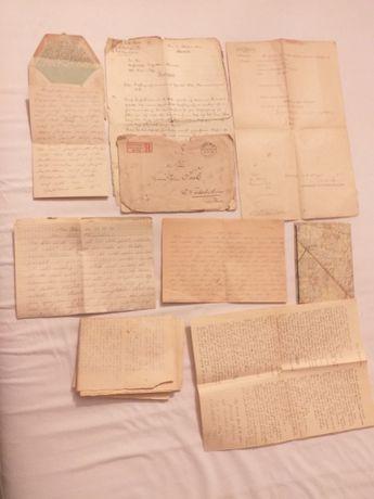 Stare Niemieckie Dokumenty i Listy.