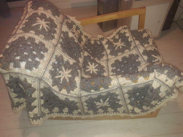 Koc narzuta patchwork merynos
