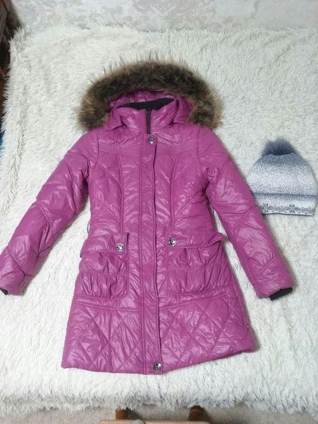 куртка зимняя ( зима) б/у и шапка в подарок