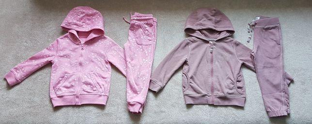 Dres, dresy dziewczęce, kaptur F&F 2szt r.98 (2-3 lata)