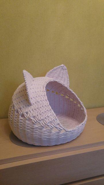 Плетёный домик для кошек и котов