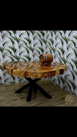 Stół z plastra drewna