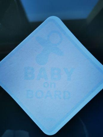 Autocolante baby on board novo com portes incluídos