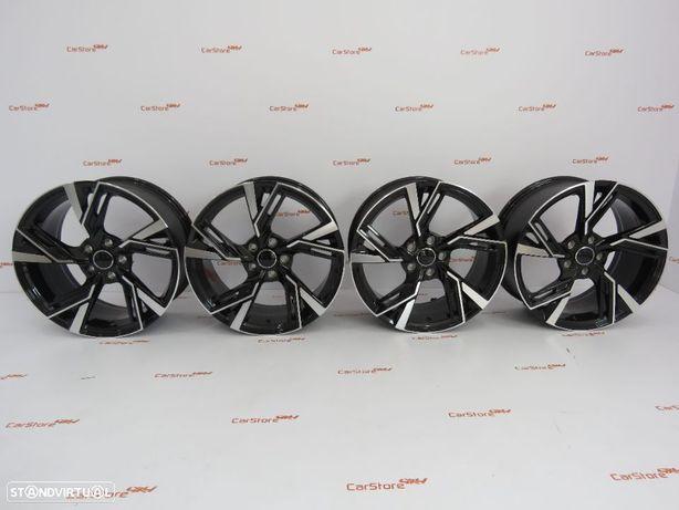 Jantes Look Audi Rs6 18 x 8 et 35 5x112 preto+ polido