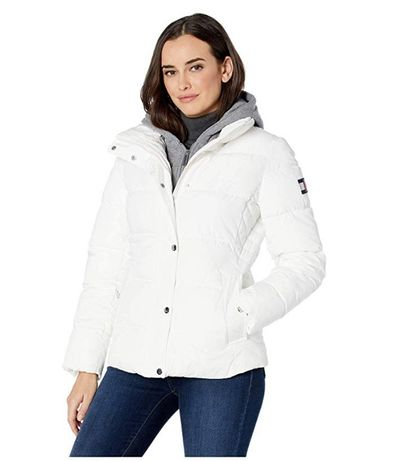 Белая куртка Tommy Hilfiger оригинал (размер М)