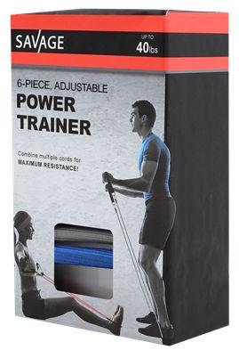 Savage Power Trainer Trenażer lina taśma treningowa do ćwiczeń NOWA
