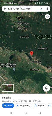Działka letniskowa z domkiem Krzewent nad jeziorem 300m do jeziora