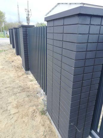 Ogrodzenie betonowe ala klinkier słupek ogrodzeniowy murek