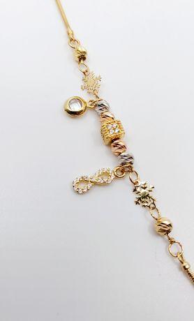 Złota bransoletka Ala Pandora próba 585 waga 4.21 gr