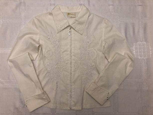 Bluzka biała dziewczęca 128cm