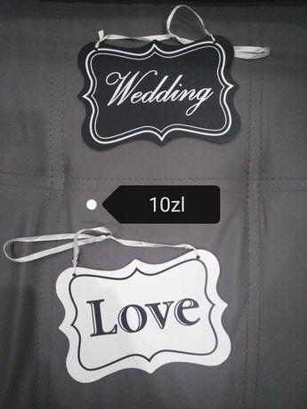 Ozdoba, girlanda, ślub, dekoracje, sklejki