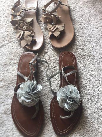 Sandálias em pele com flores XC-XACARET (HAITY loja)