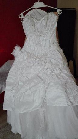 Piękna suknia ślubna Farrage Vanilla kolor biały super cena